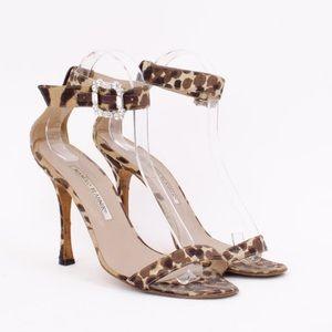 Manolo Blahnik 💕Leopard Print High Heel Sandal